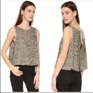 Free People Sleeveless Open Back Sequin Top